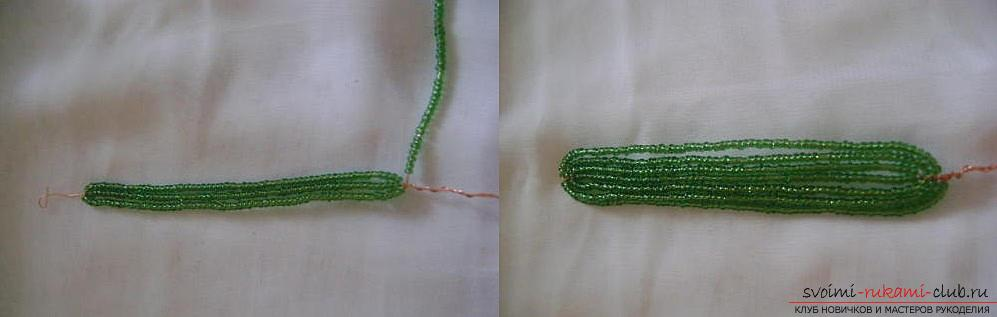 A detailed master class on weaving a hyacinth flower from beads, step-by-step photos and a description of the work. Photo Number 9