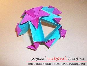 Free master classes for creating modular origami balls, step-by-step photos and description .. Photo number63