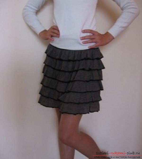 photoinstruction on the pattern of the skirt. Picture №3