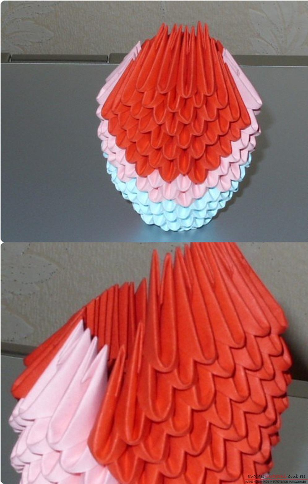 Een papegaai in een modulaire origamitechniek. Foto №61
