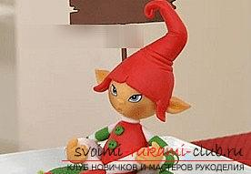 Master class Christmas elf for the holidays - New Year's toys with their own hands. Photo №6