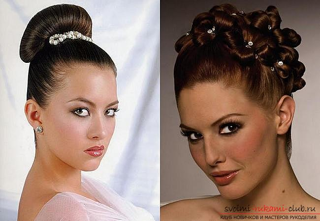How to make a beautiful hairstyle on medium hair for a celebration with your own hands. Photo number 16