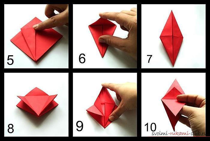 Origami dragon, scheme. Photo # 2