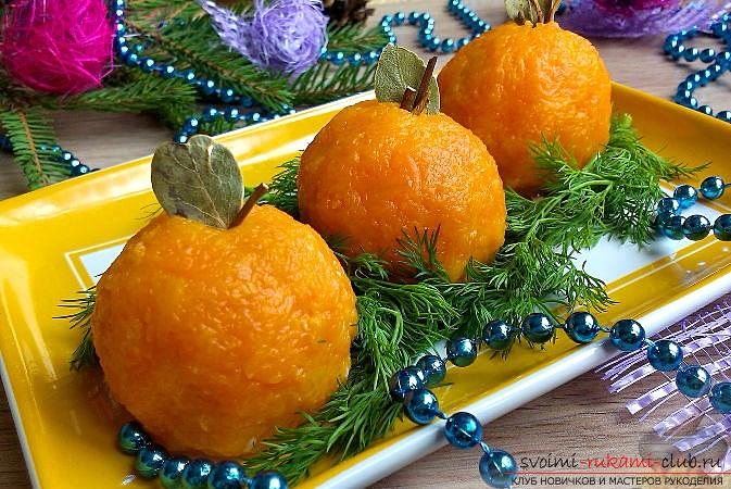 How to make New Year snacks with original and unusual appearance, recipes, step-by-step photos and description of preparation. Photo №1
