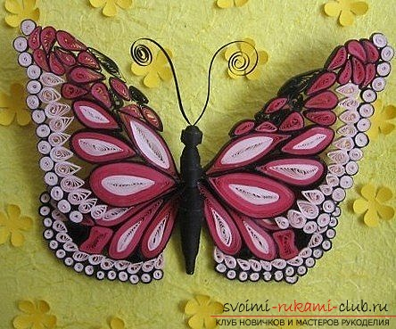 We make a butterfly in the quilling technique. Photo №1
