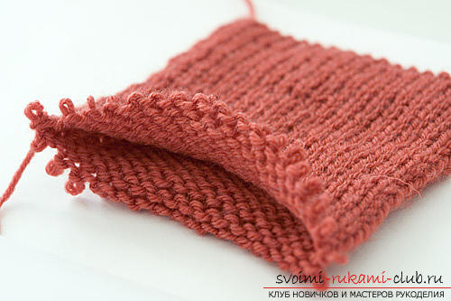 Interesting scheme of knitting with double knitted rubber bands. Photo №6