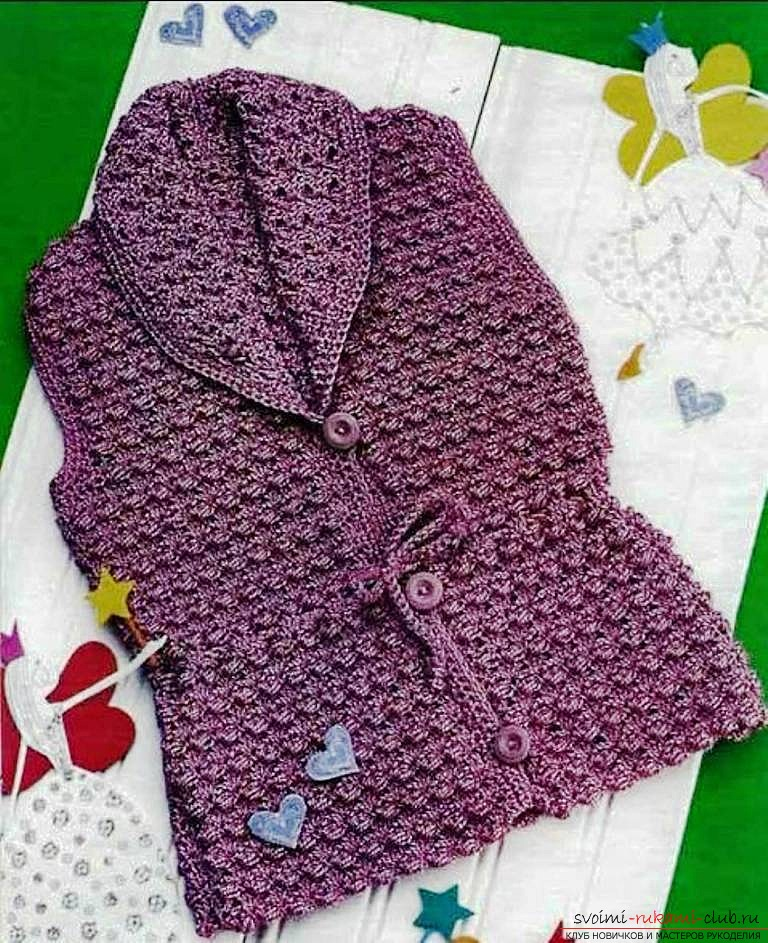knitted children's vest. Photo №8