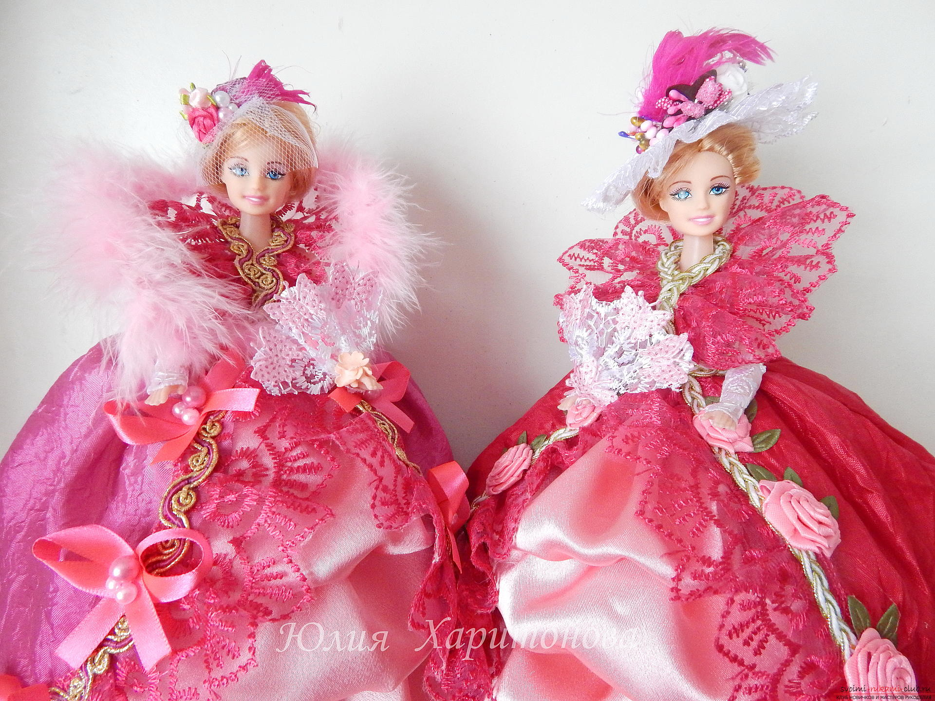 Chic dresses for Barbie with their own hands. Picture №3