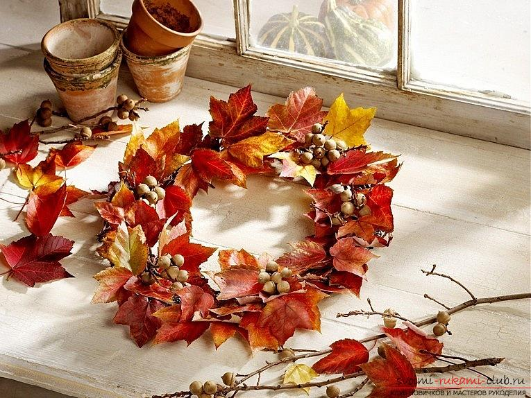 Crafts from maple leaves with their own hands: several lessons. Photo №1