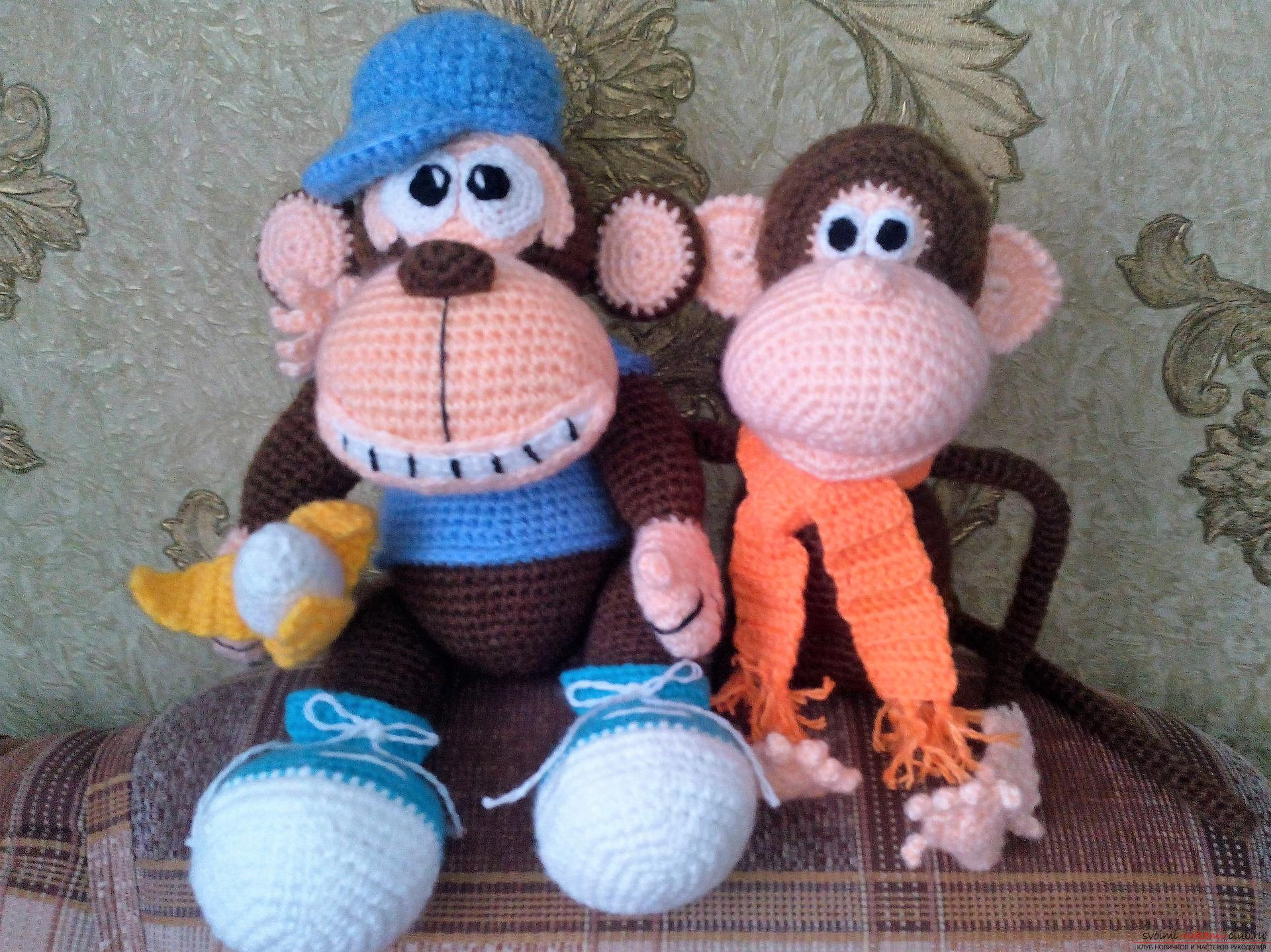 Funny monkeys, crocheted. Photo №1