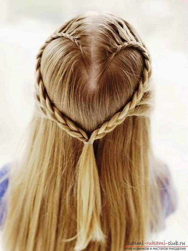 How to make children's hairstyles for girls with their own hands: to make a hairstyle for a girl just !. Photo №1