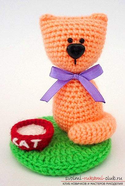 How to tie a cat to an amigurumi with your own hands with diagrams and photos. Photo №5