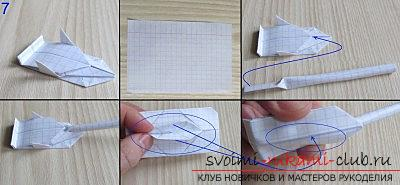 A simple model of a tank made of paper, origami technique. Photo №7