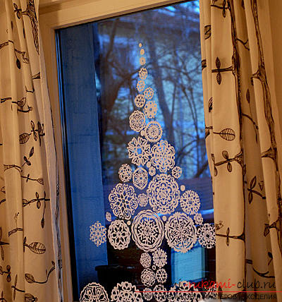 Decoration for the New Year, how to decorate the New Year window yourself, ways to decorate windows for New Year's holidays, templates for decorating windows, decorating windows with PVA glue .. Photo # 2