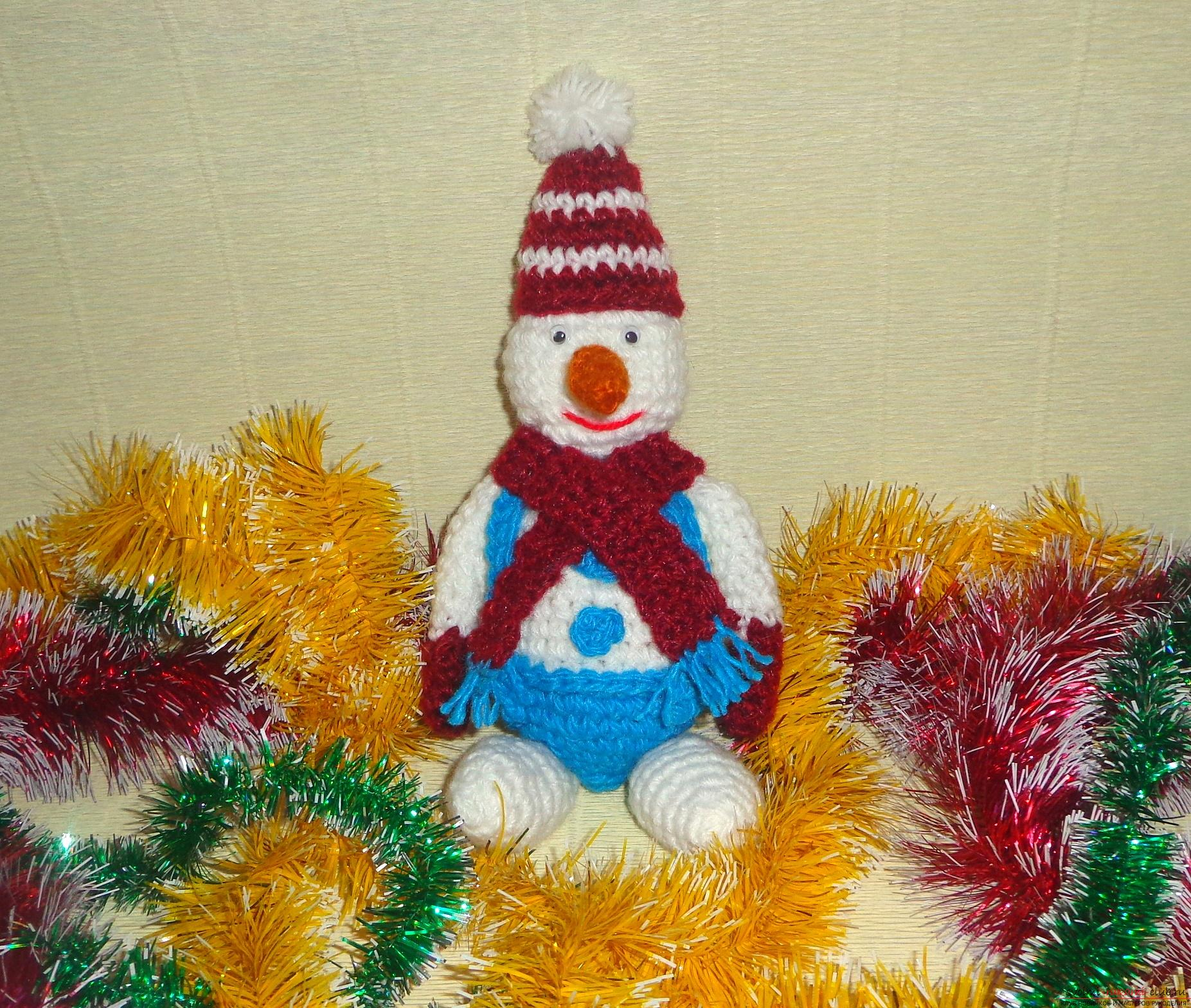 "Photo to a lesson on crocheting a snowman ""Bonya"". Photo number 16"