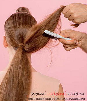 We learn to make a hairdo for the wedding with our own hands. Picture №30