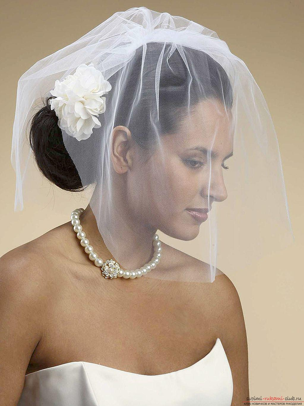 Hairstyles for the bride for the wedding with the veil. Picture №3