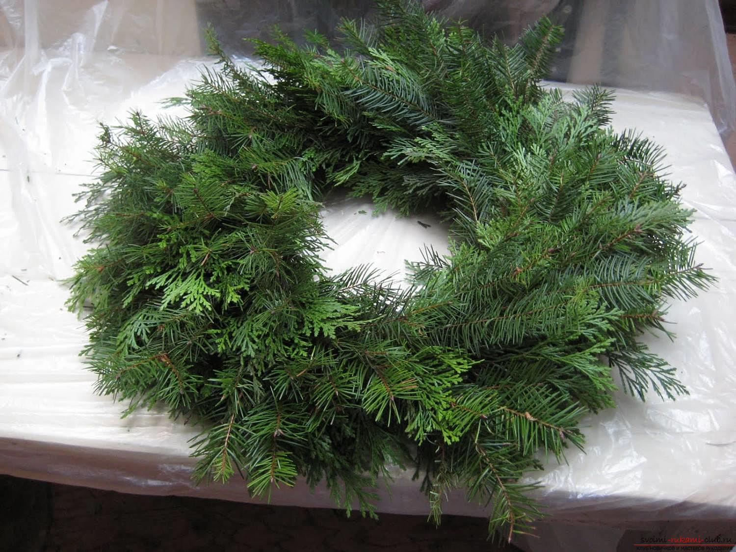 How to make a Christmas wreath by yourself .. Photo # 4