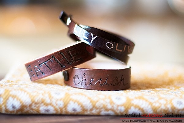 Leather bracelet for your beloved .. Photo №6