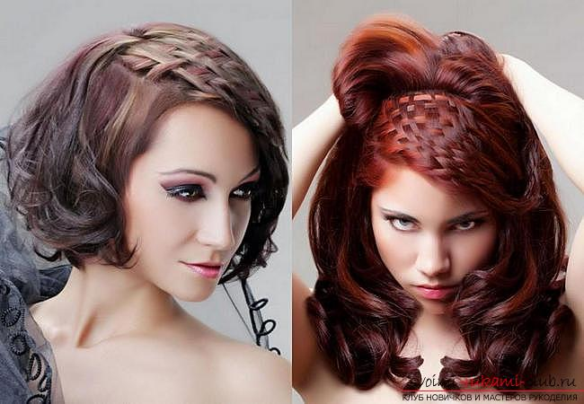 How to make a beautiful hairstyle on medium hair for a celebration with your own hands. Photo №32