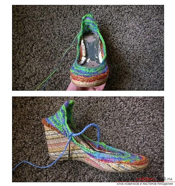 We knit sandals or boots with our own hands and crochet - summer patterns. Photo №8