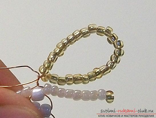 How to make a toy of a Christmas angel from beads with your own hands - a master class. Photo №4