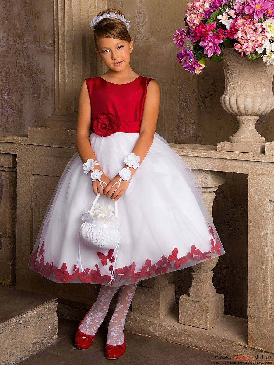 How to make a dress for a daughter or a girl with her own hands: photos and tips .. Photo # 2