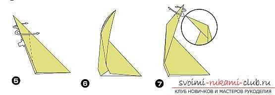 Schemes and description of the creation of paper crafts to the origami technique for children aged 6 years .. Photo # 16