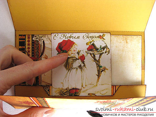 Instructions for the production of the original envelope - stand for the postcard with your own hands. Picture №6