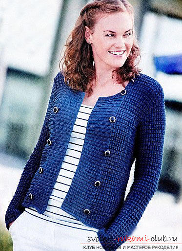 A beautiful women's jacket: we knit knitting needles with a pattern. Photo №8