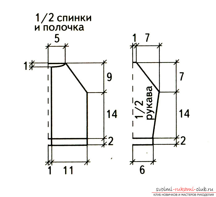 Knitting a baby blouse with knitting needles. Diagram and photo for beginner needlewomen. Photo №4