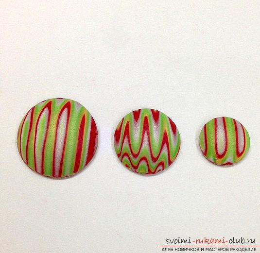 Christmas tree beads made of polymer clay for New Year's holidays - master class modeling. Photo №5