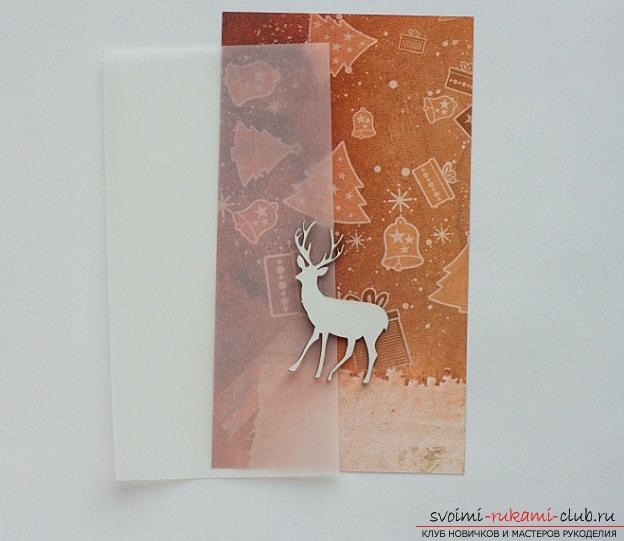 How to make a deer shape for New Year's scrapbook ?. Photo # 2