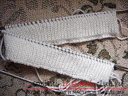 Interesting scheme of knitting with double knitted rubber bands. Picture №3