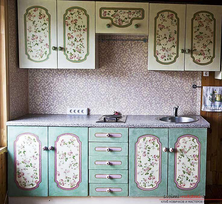 Decor furniture, cabinet decor, how to decorate a closet with your own hands, photo, various decor options .. Photo # 1
