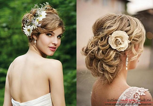 How to make a beautiful hairstyle on medium hair for a celebration with your own hands. Photo number 15