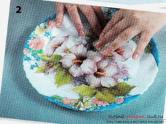 exquisite decoupage on a plate with your own hands. Photo # 2