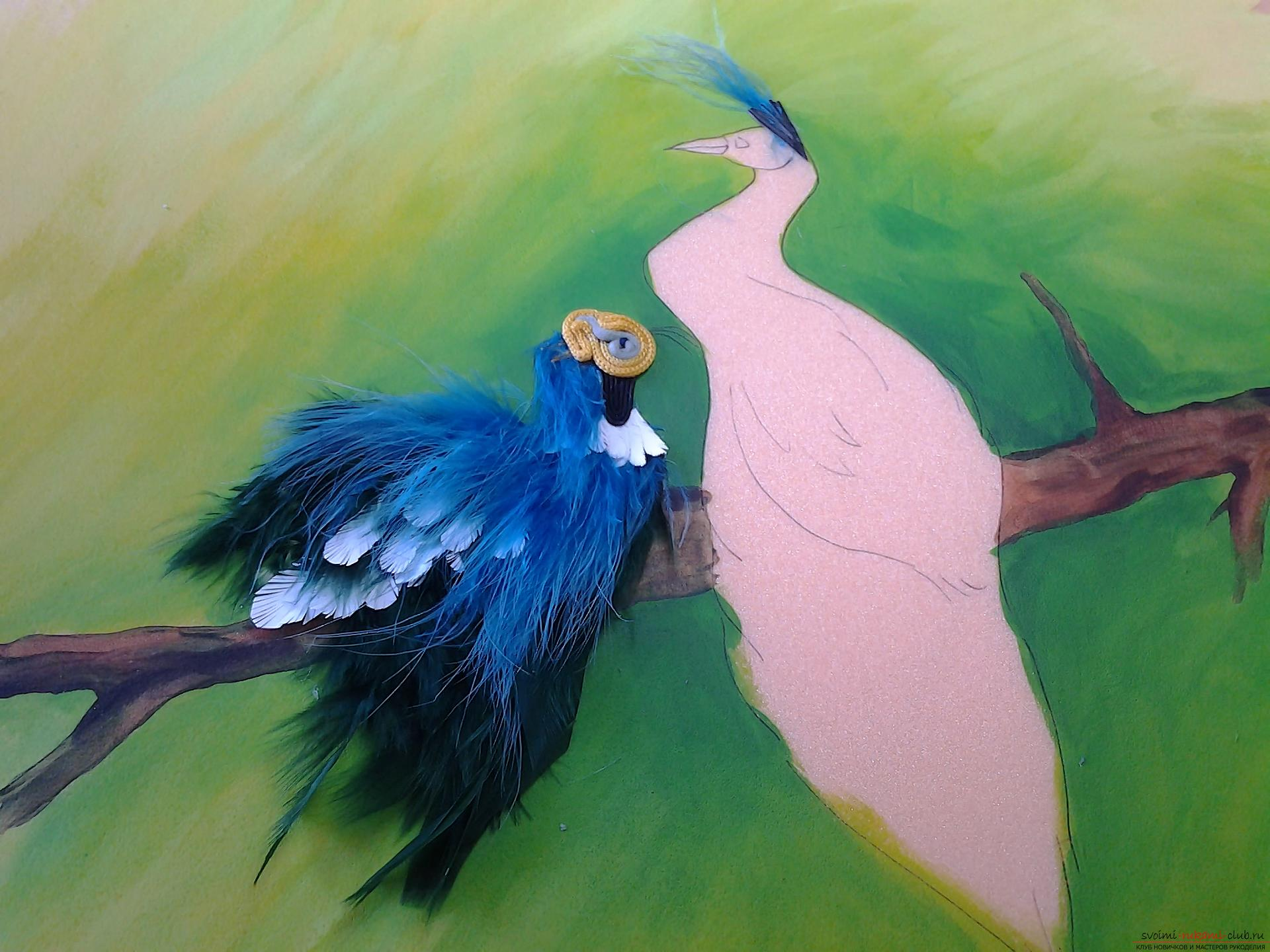 Original painting: birds on a branch. Photo №1