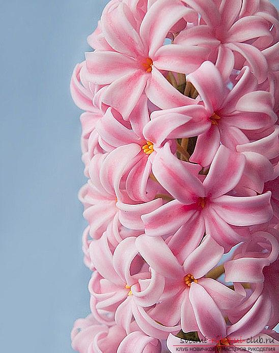 We make a bouquet of hyacinth with the help of polymer clay - a master class. Photo №1