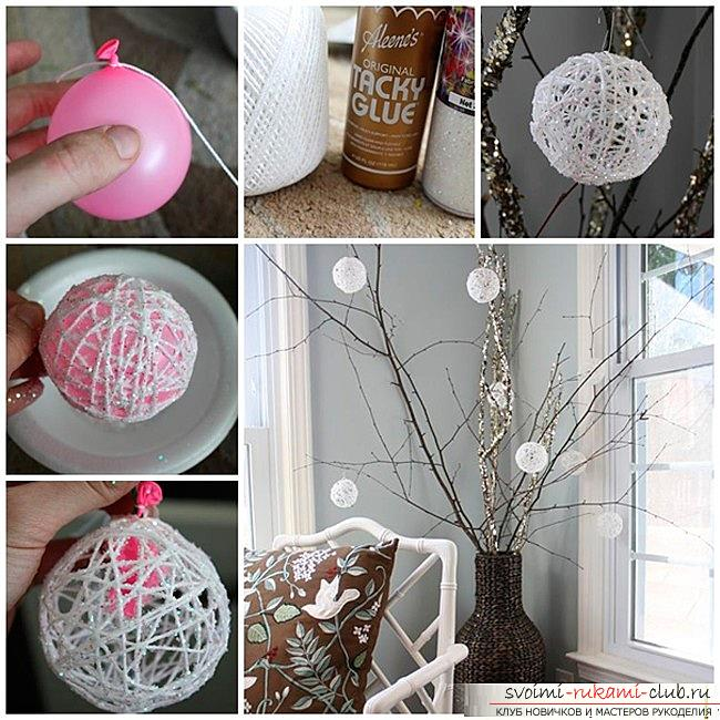 How to make Christmas trees: balls, snowflakes and much more with their own hands, master classes to create Christmas tree toys with step-by-step photos and descriptions. Photo №5
