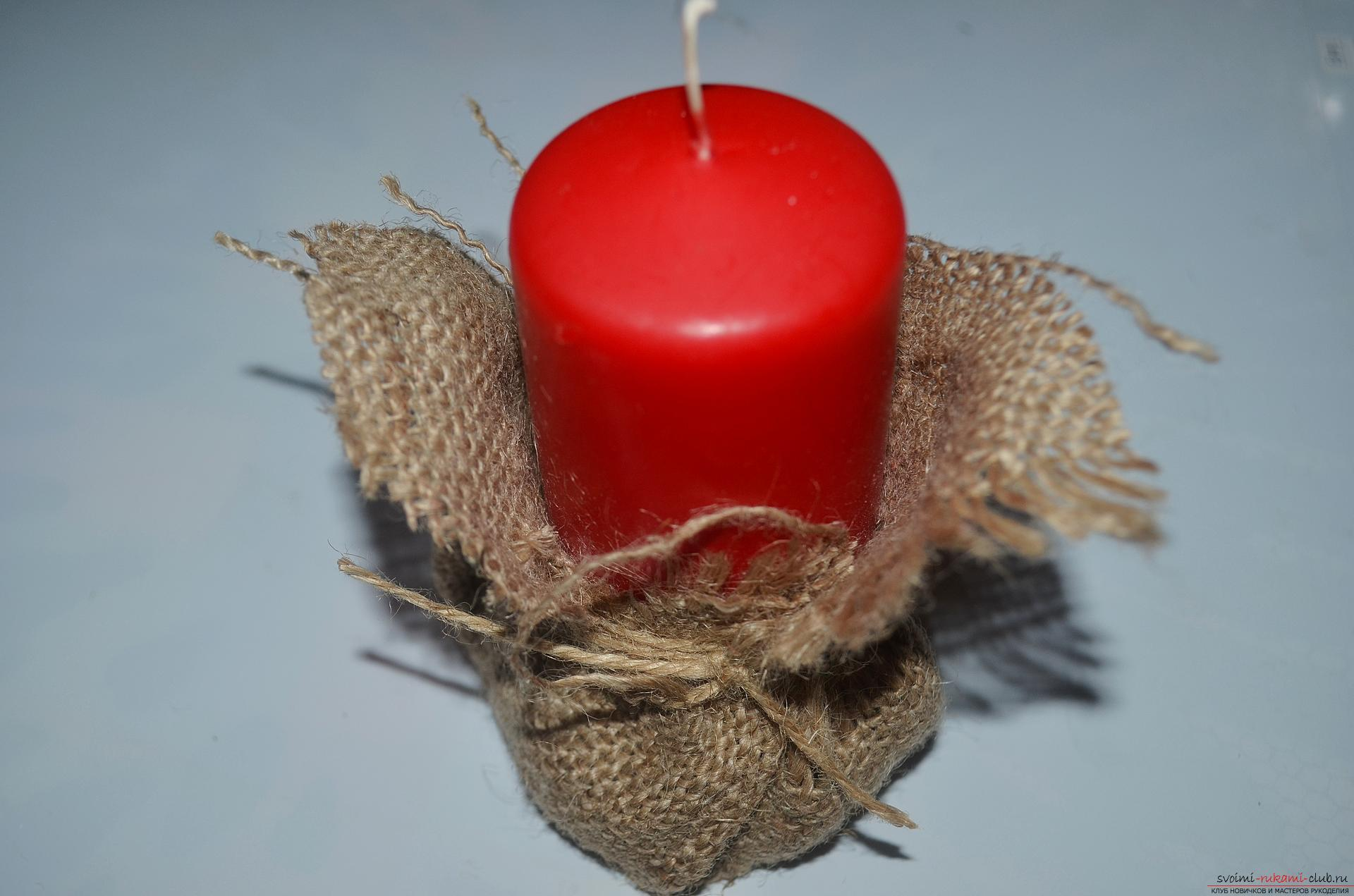The master class will tell you how to make your own handiwork - a Christmas song with a candle. Photo Number 9