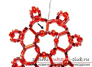 Masterclasses for snowflake weaving, free schemes, step by step photos, job descriptions.  Photo №4