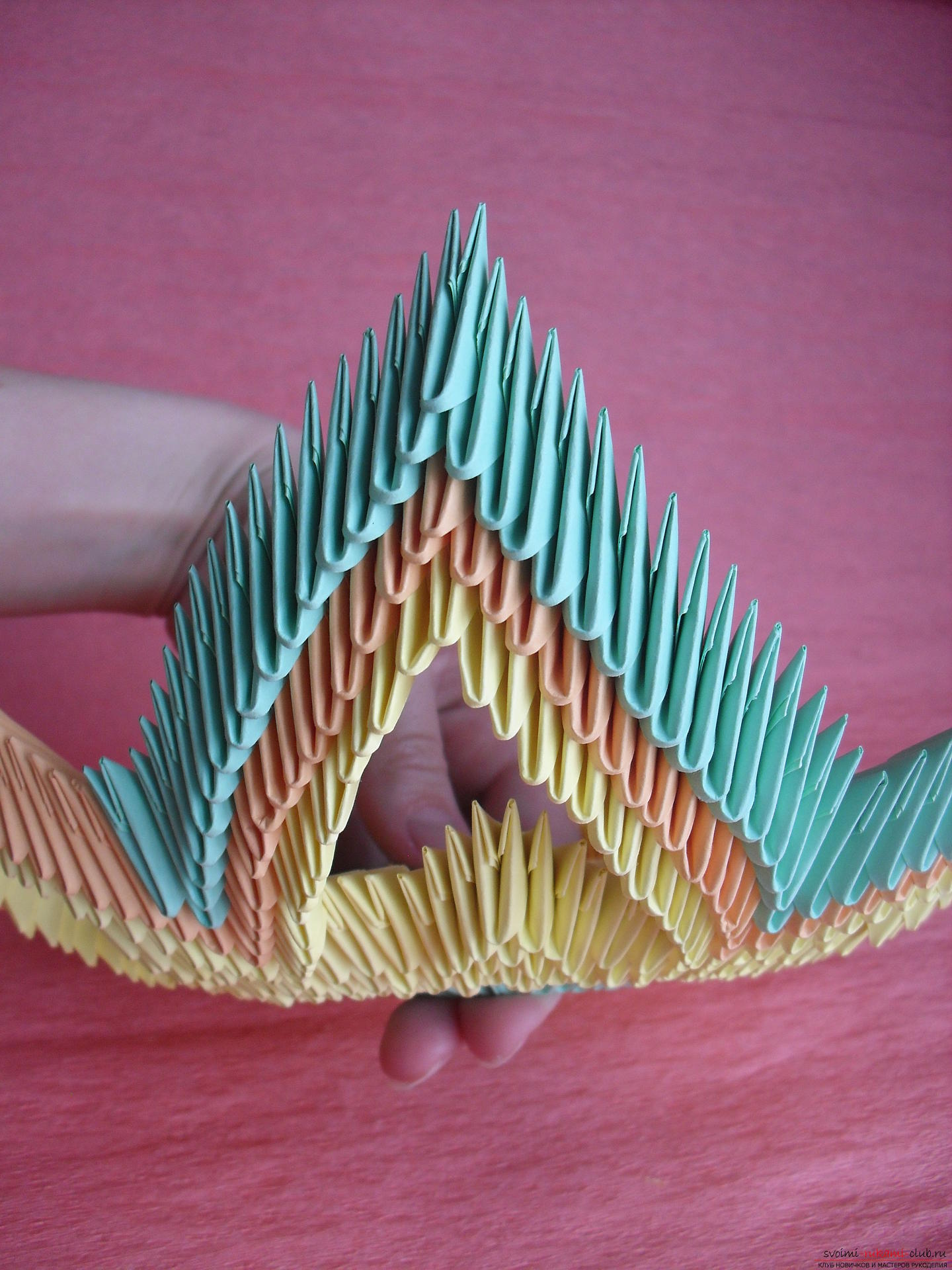 This master class will teach you how to make a vase with your own hands from a modular origami .. Photo # 10