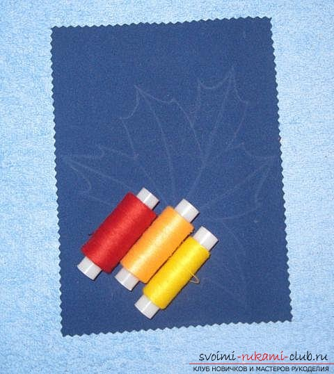 """We embroider the autumn leaf in the technique of """"isolate"""". Photo Number 11"""