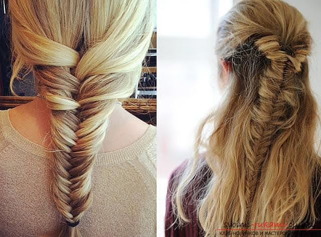 Interesting ideas for creating hairstyles with pigtails on medium hair themselves. Photo Number 11