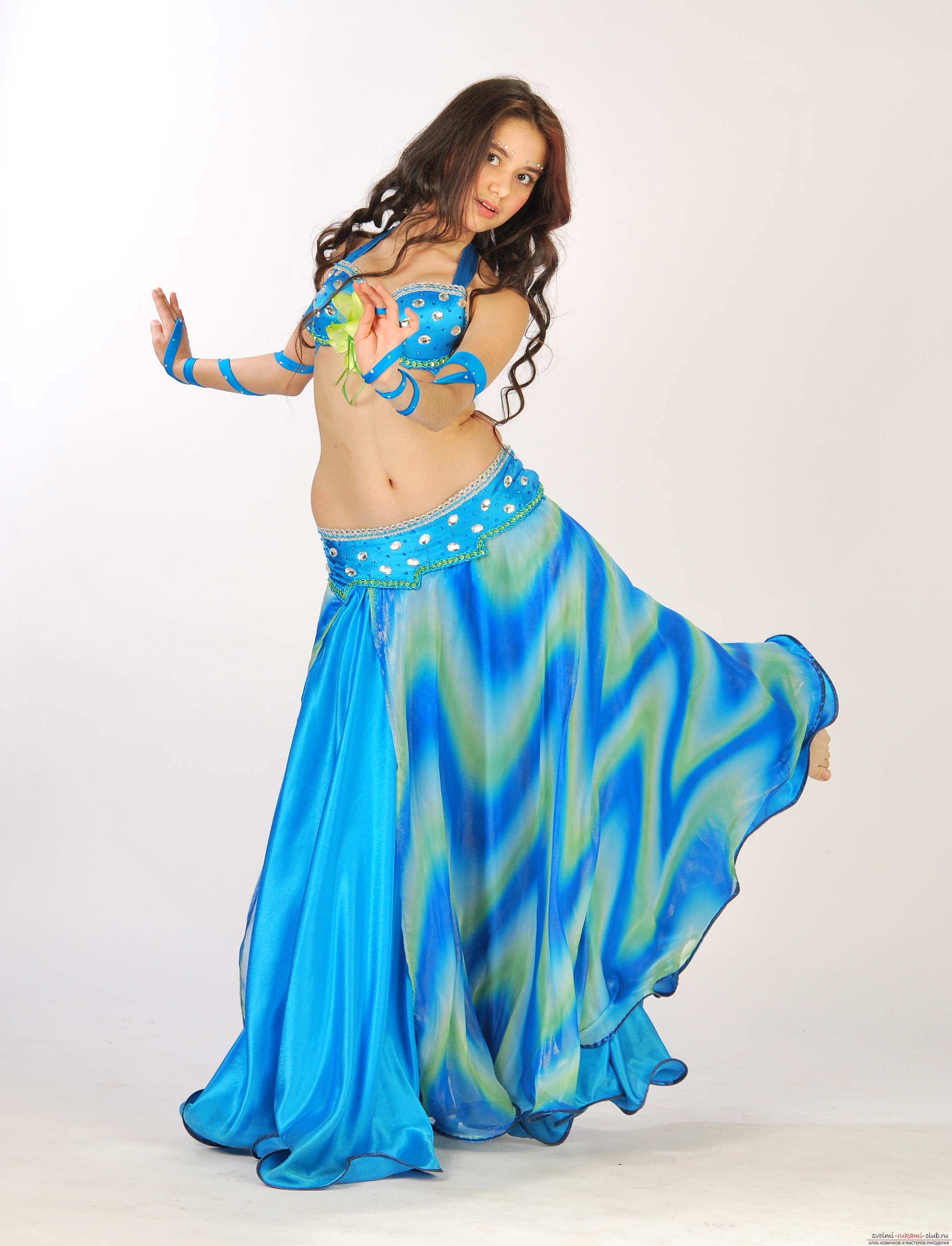 Make your own oriental costume for dancing in a photo lesson .. Photo # 3