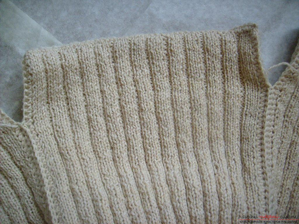 This master class with a pattern will teach how to tie a hat with ear flaps with knitting needles .. Photo # 15