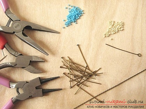 Master class on how to create an original suspension with the help of carnations for jewelry and beads. Photo №1
