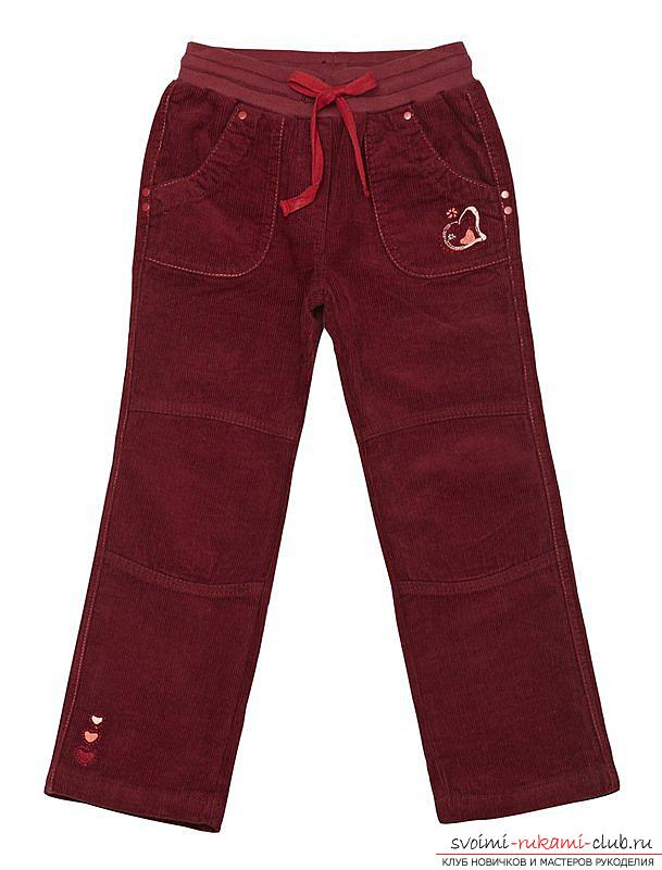 Simple trouser pattern for a girl. Photo №1