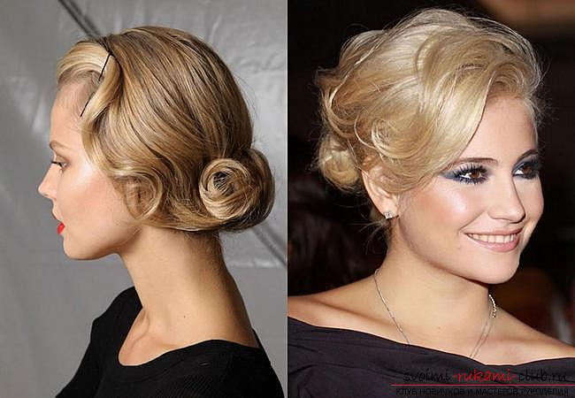 How to make a beautiful hairstyle on medium hair for a celebration with your own hands. Photo №29